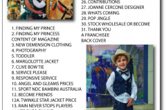2nd issue kids mag PAGE CONTENT